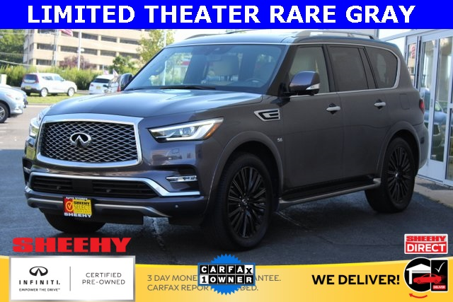 Certified Pre-Owned 2019 INFINITI QX80 LIMITED THEATER BLIND SPOT